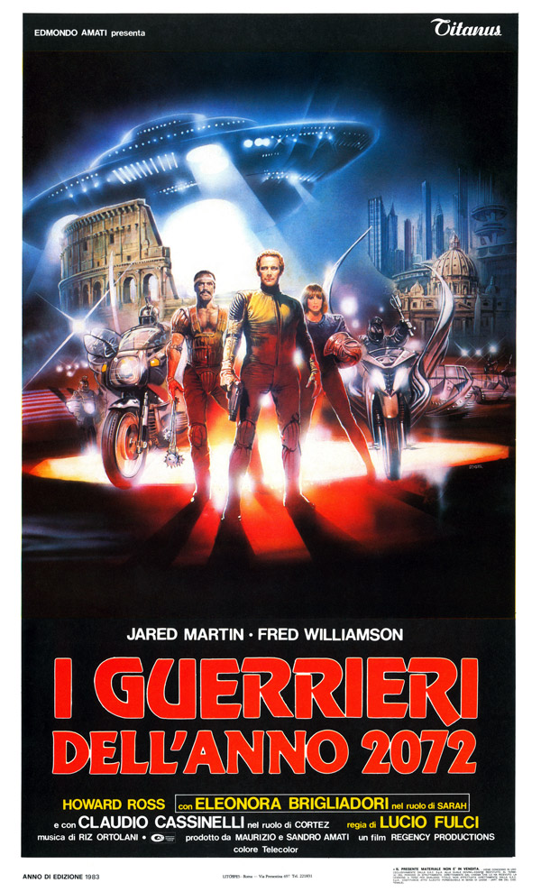 Italian poster from the movie Fighting Centurions (I guerrieri dell'anno 2072)