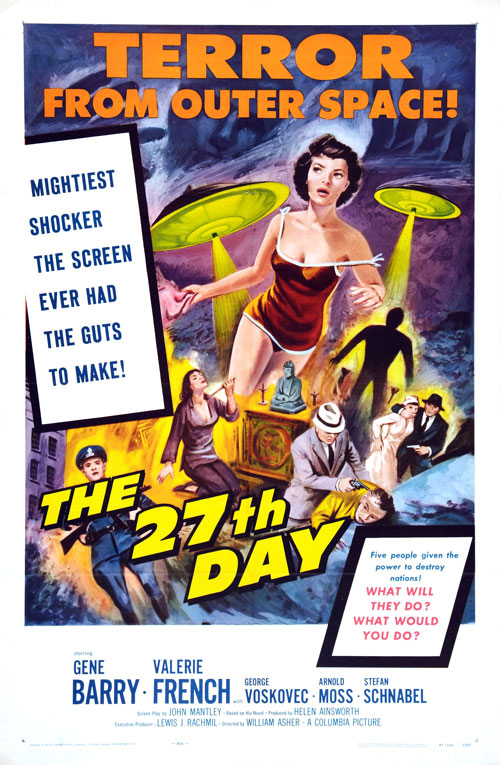 Affiche américaine du film Le 27ème jour (The 27th Day)