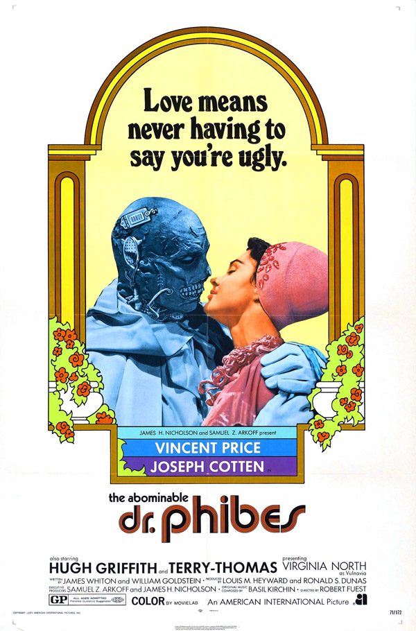 Us poster from 'The Abominable Dr. Phibes'