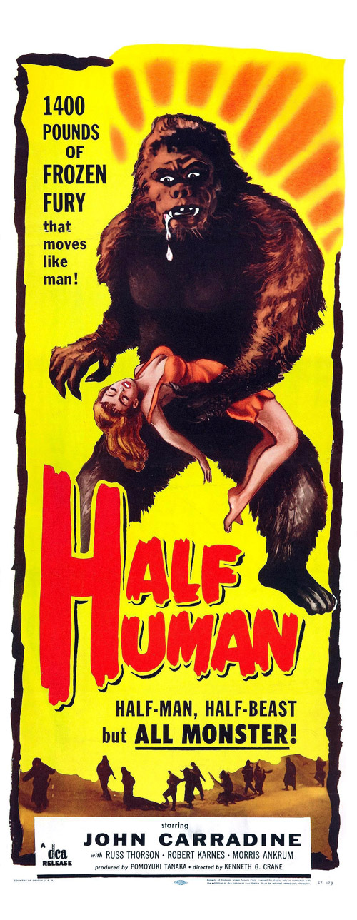 Us poster from the movie Half Human: The Story of the Abominable Snowman