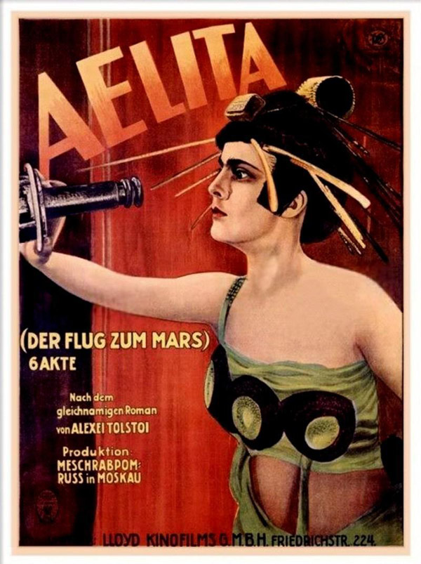 German poster from the movie Aelita