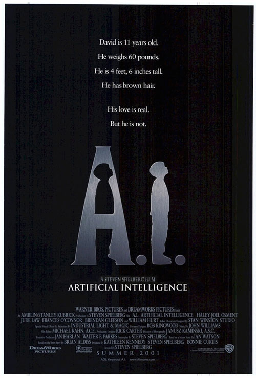 Us poster from the movie Artificial Intelligence: AI