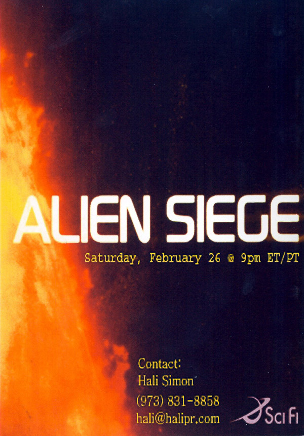 Unknown poster from the TV movie Alien Siege