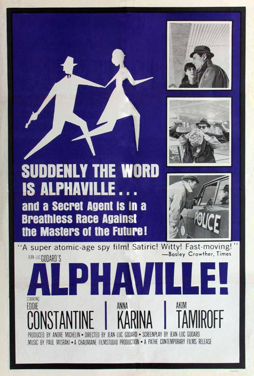 Us poster from the movie Alphaville (Alphaville, une étrange aventure de Lemmy Caution)