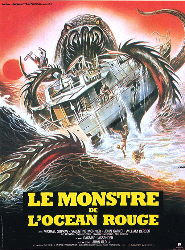French poster from the movie Devil Fish (Shark: Rosso nell'oceano)