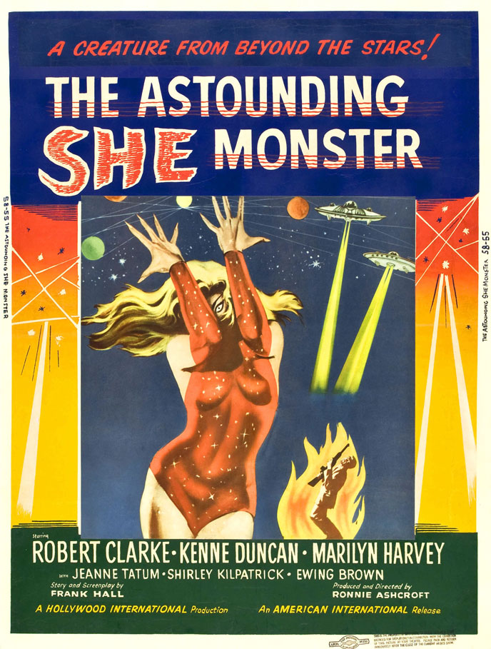 Affiche américaine de 'The Astounding She-Monster'