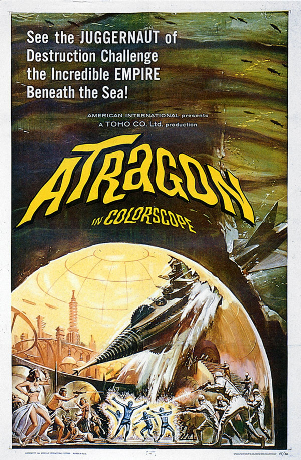 Us poster from the movie Atragon (Kaitei gunkan)