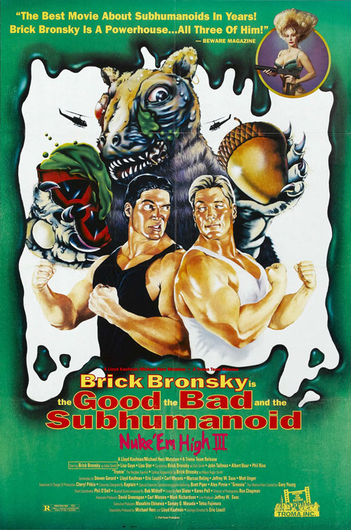 Us poster from the movie Class of Nuke 'Em High 3: The Good, the Bad and the Subhumanoid