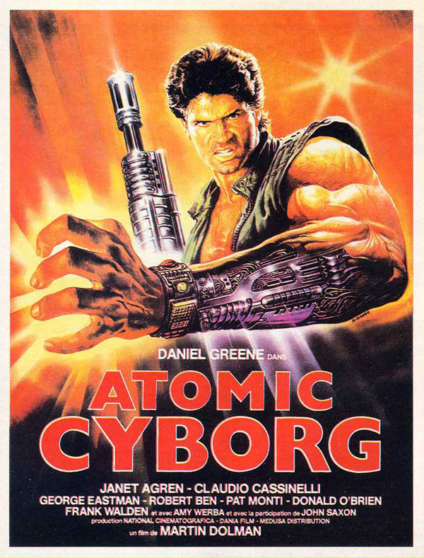 French poster from the movie Atomic Cyborg (Vendetta dal futuro)