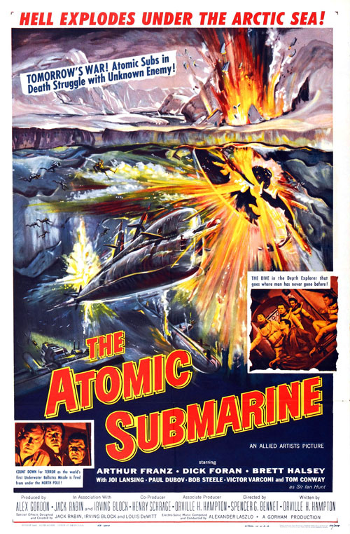 Affiche américaine de 'The Atomic Submarine'