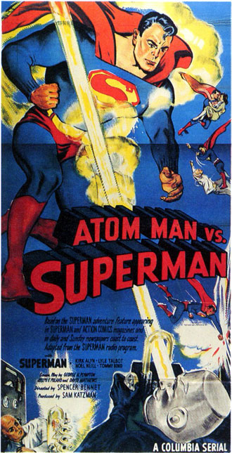 Affiche américaine de 'Atom Man contre Superman'