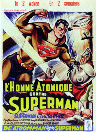 Affiche belge du film Atom Man contre Superman (Atom Man vs. Superman)
