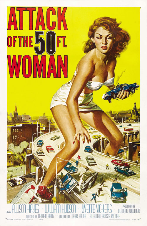 Us poster from the movie Attack of the 50 Foot Woman