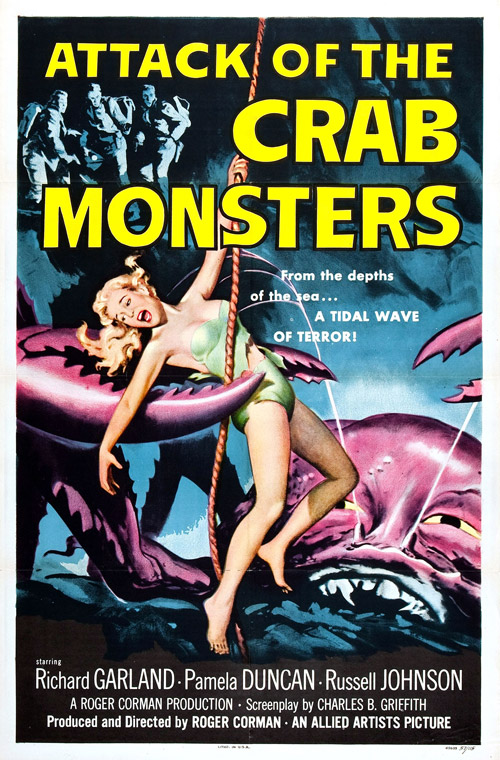 Us poster from the movie Attack of the Crab Monsters
