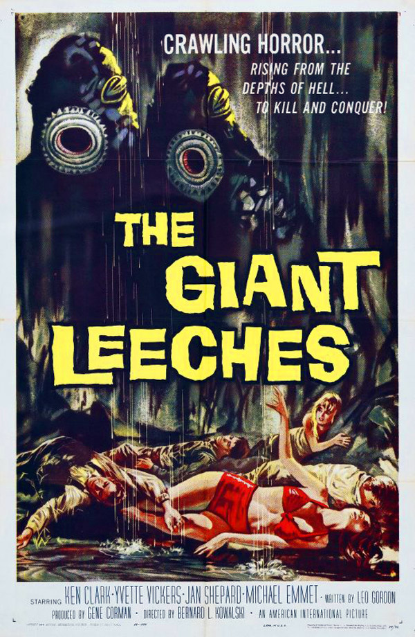 Us poster from the movie Attack of the Giant Leeches