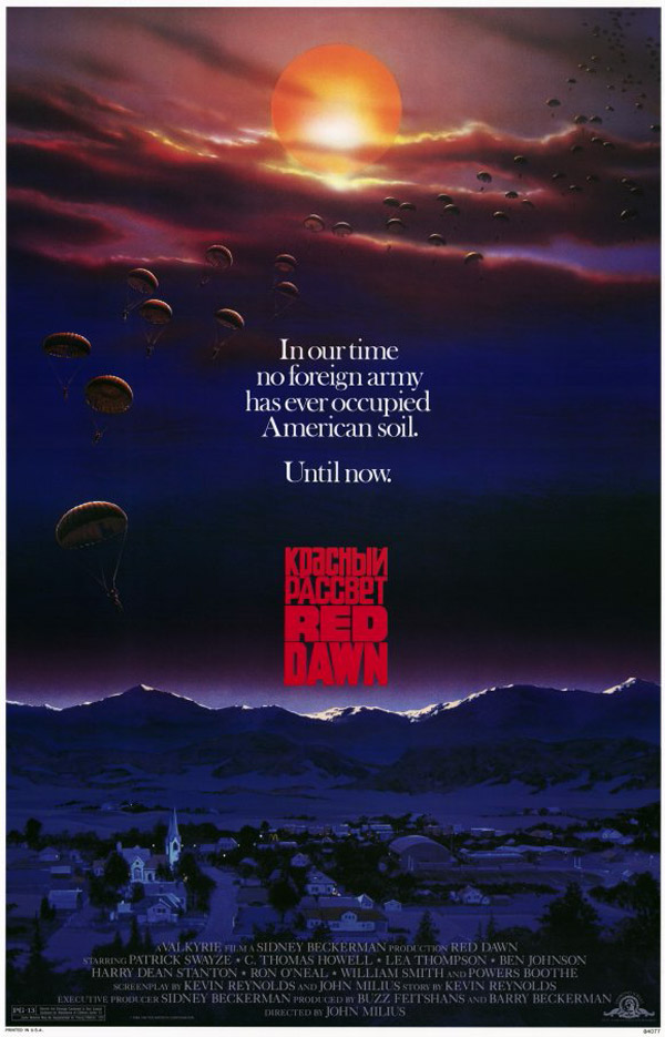 Us poster from the movie Red Dawn