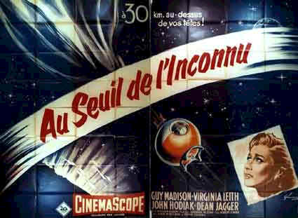 French poster from the movie On the Threshold of Space
