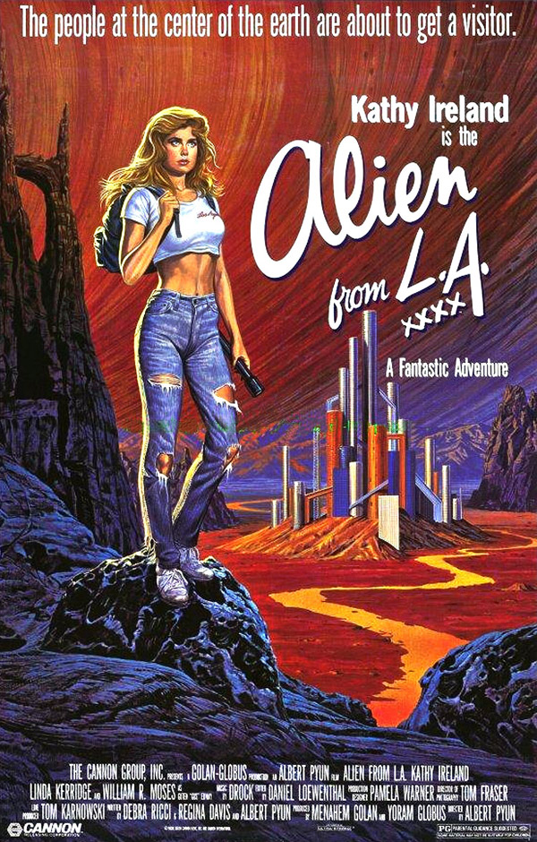 Us poster from the movie Alien from L.A.