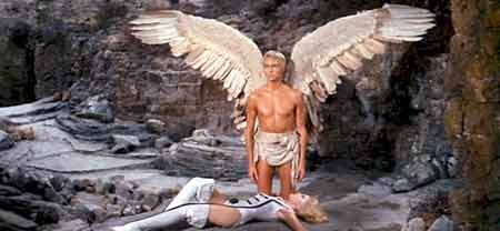 Barbarella meets Pygar the bird man - Barbarella