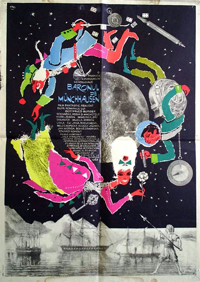 Unknown poster from the movie The Fabulous Baron Munchausen (Baron Prásil)
