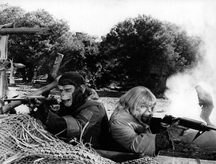 Photo de 'La bataille de la planète des singes' - ©1973 20th Century Fox - La bataille de la planète des singes (Battle for the Planet of the Apes) - cliquez sur la photo pour la fermer