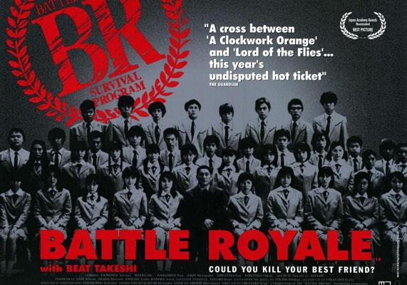 Affiche américaine de 'Battle Royale'