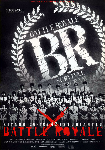 Affiche espagnole de 'Battle Royale'
