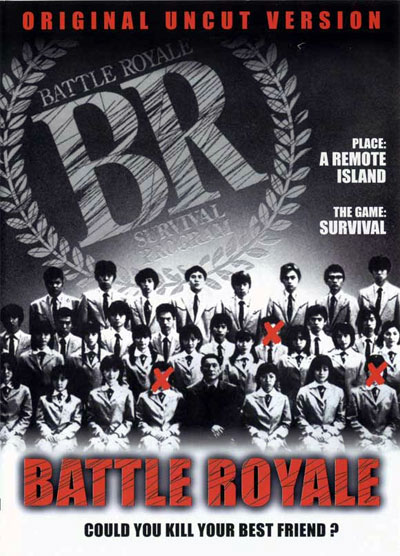 Affiche britannique de 'Battle Royale'