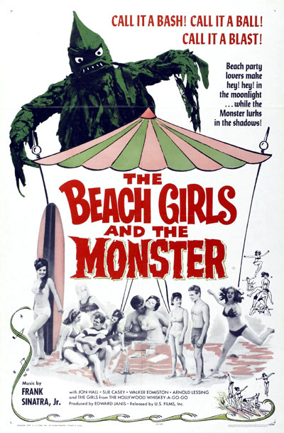 Us poster from the movie The Beach Girls and the Monster