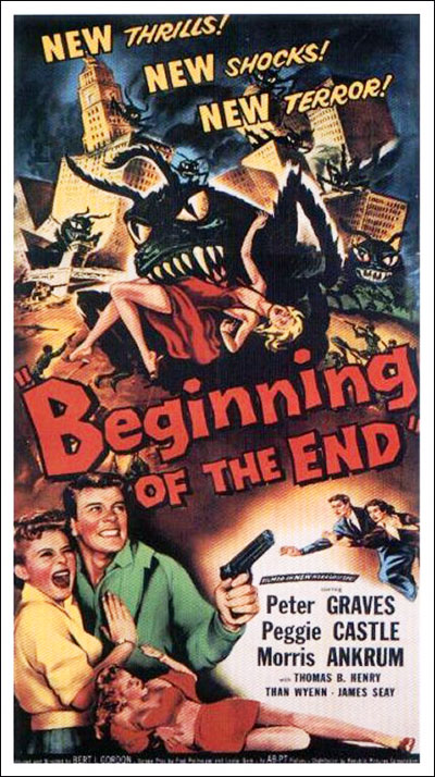 Affiche américaine de 'Beginning of the End'