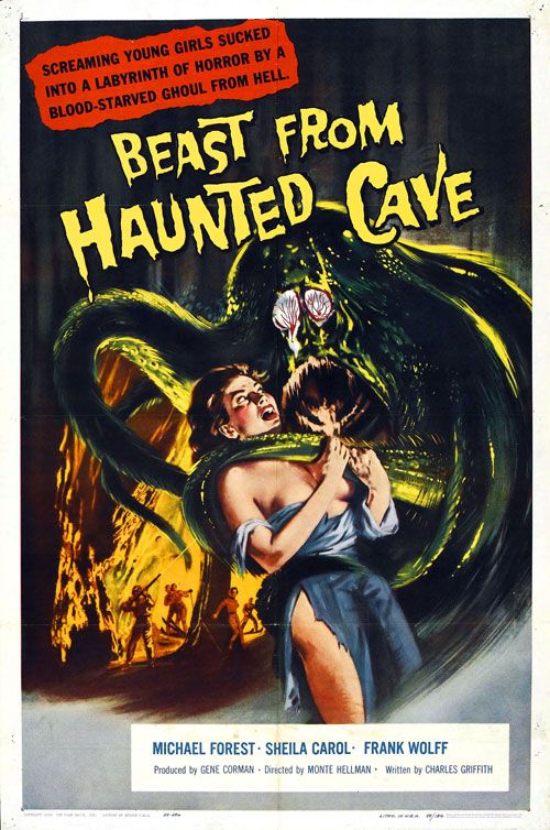 Us poster from the movie Beast from Haunted Cave