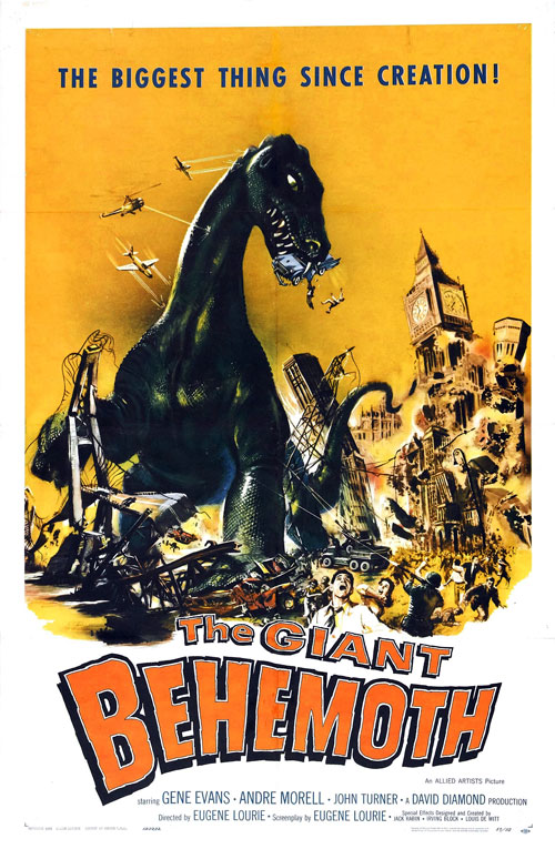Us poster from the movie The Giant Behemoth (Behemoth the Sea Monster)