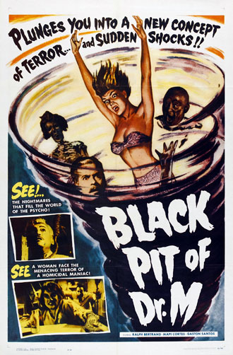 Affiche américaine de 'The Black Pit of Dr. M'