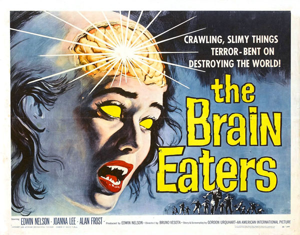 Affiche américaine de 'The Brain Eaters'