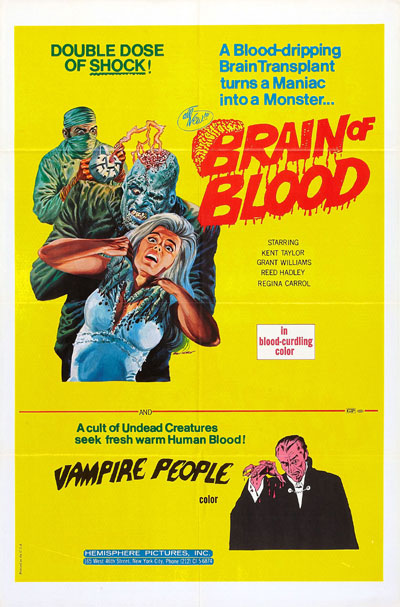 Us poster from the movie Brain of Blood