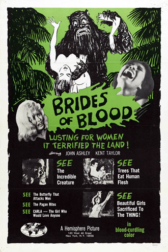 Us poster from the movie Brides of Blood