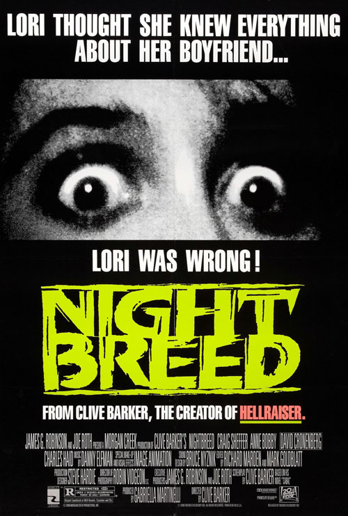Us poster from the movie Nightbreed