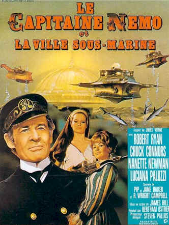 Affiche française du film Capitaine Nemo et la Ville Sous-Marine (Captain Nemo and the Underwater City)