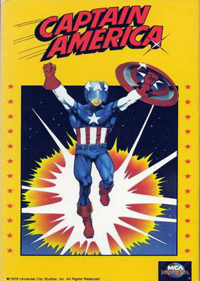 French poster from the TV movie Captain America