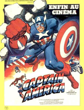French poster from the TV movie Captain America II: Death Too Soon
