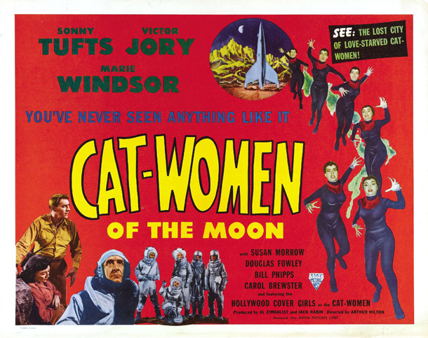Affiche américaine de 'Cat-Women of the Moon'