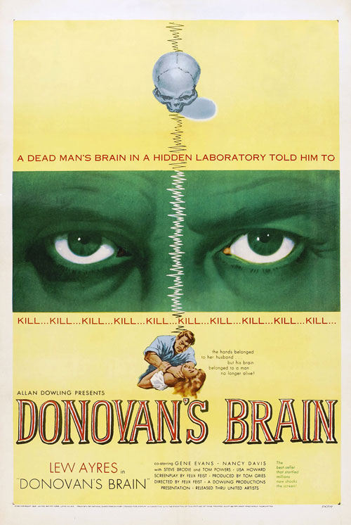 Us poster from the movie Donovan's Brain