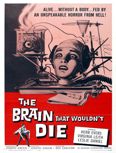 Us poster from the movie The Brain That Wouldn't Die