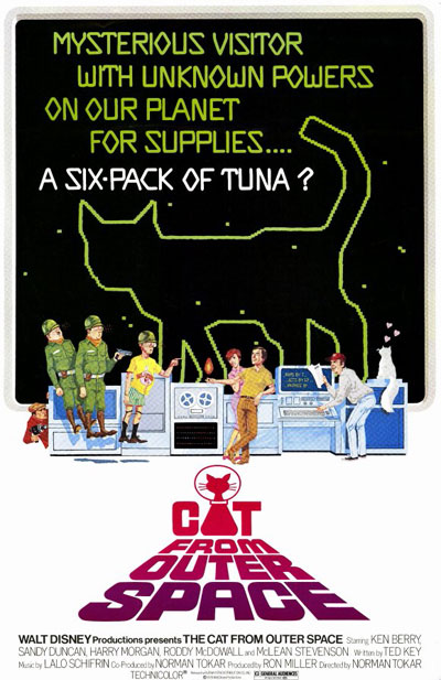 Us poster from the movie The Cat from Outer Space