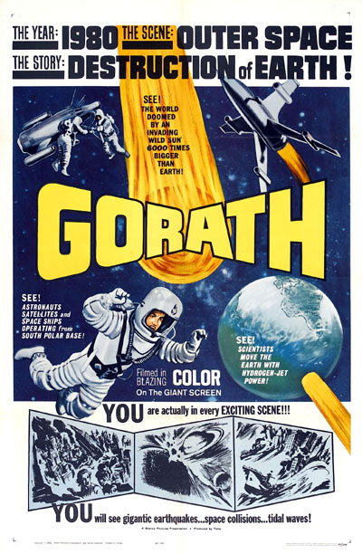 Us poster from the movie Gorath (Yôsei Gorasu)
