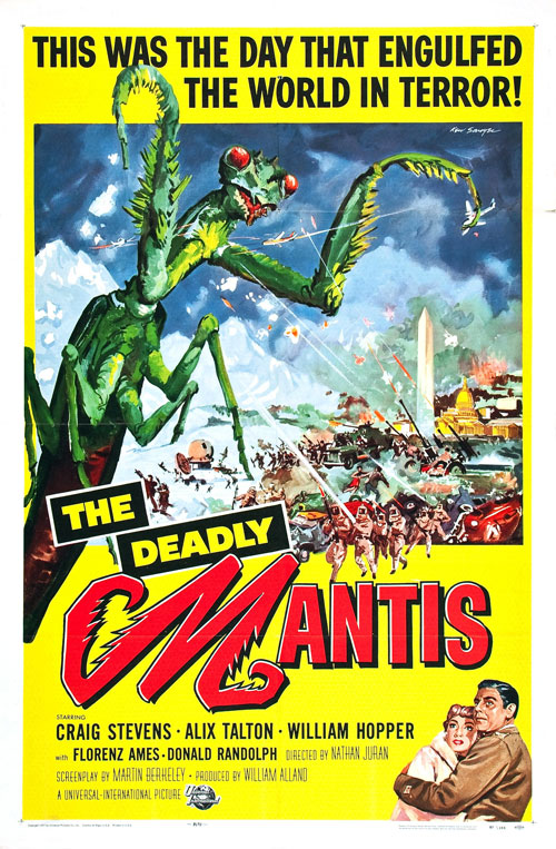 Us poster from the movie The Deadly Mantis