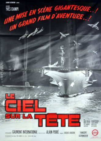 French poster from the movie Heaven on One's Head (Le ciel sur la tête)