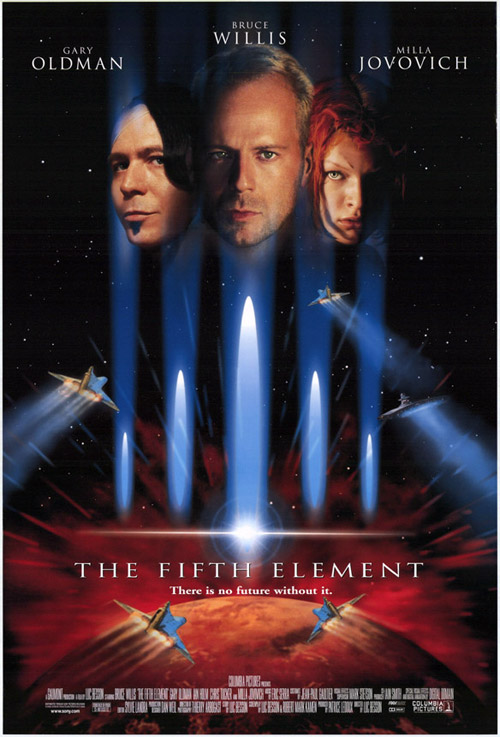 Us poster from the movie The Fifth Element (Le cinquième élément)