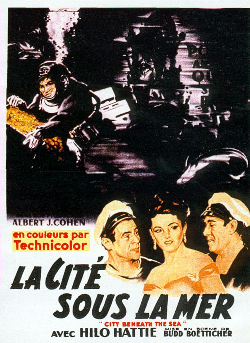 Affiche française du film La cité sous la mer (City Beneath the Sea)