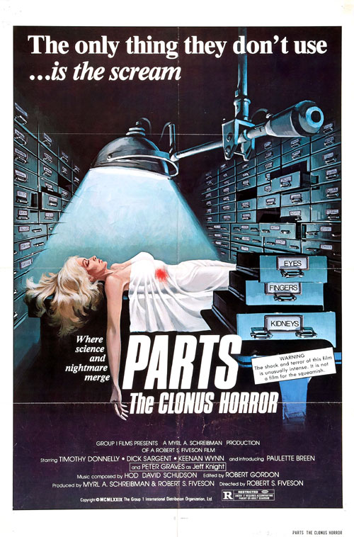 Us poster from the movie The Clonus Horror